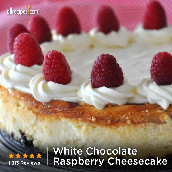 "White Chocolate Raspberry Cheesecake | ""I love to make cakes, and this ..."