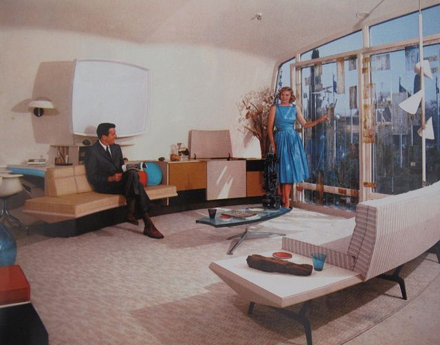 The Monsanto House of the Future – Disneyland, 1957 – 1967. Monsanto Brochure Image, 1960.