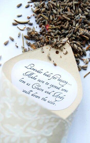 lavender toss sweet message