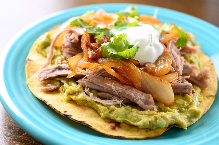 ... larger photo of Pulled Pork Tostada with Chipotle Caramelized Onions