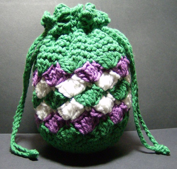 Small Crochet Drawstring Bag Pattern : Drawstring Bag Pattern Crochet images
