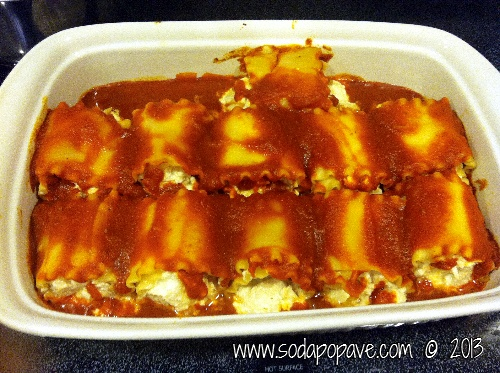 Chicken and Cheese Lasagna Roll Ups; my husband loved these!
