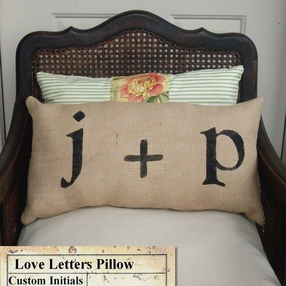 For our guest room - burlap pillow