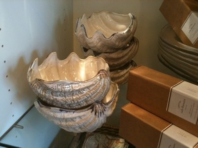 Under the Sea Clam Shell Serving Bowls by Pottery Barn