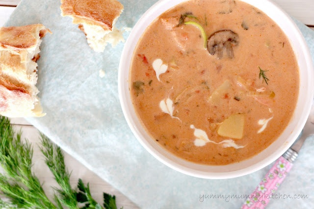Salmon Chowder recipe | Happy Eats | Pinterest