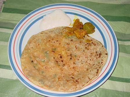 Potato Stuffed Indian Flat Bread - Aloo Paratha - Alu Paratha - Aloo ...