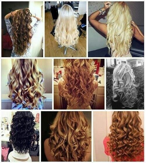hair curls iron different type