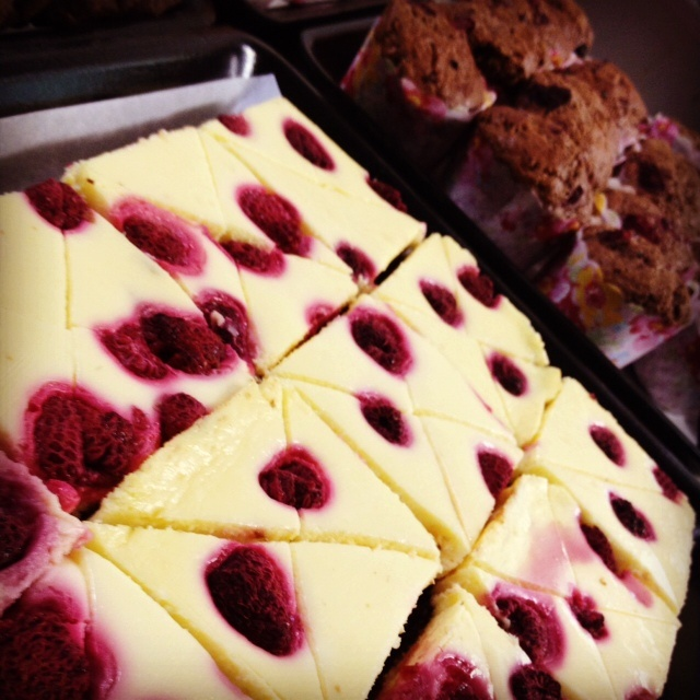 Gluten Free Raspberry Cheesecake Brownie slice bambini bakery