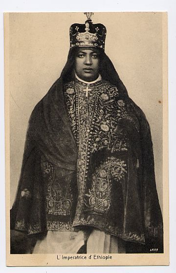Empress Menen  Queen of Queens of Judah, Beloved Wife of Emperor Haile Selassie I  King of Kings and Lord of Lords of Ethiopia