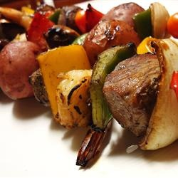 Marinated Beef Kabobs | food | Pinterest