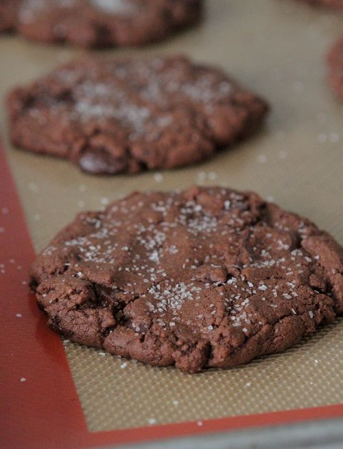 Brown butter salted double chocolate chunk cookies- picky palate ...