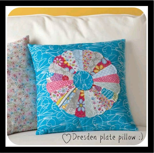 Dresden plate pattern -- perfect for a pillow or a quilt! #sew