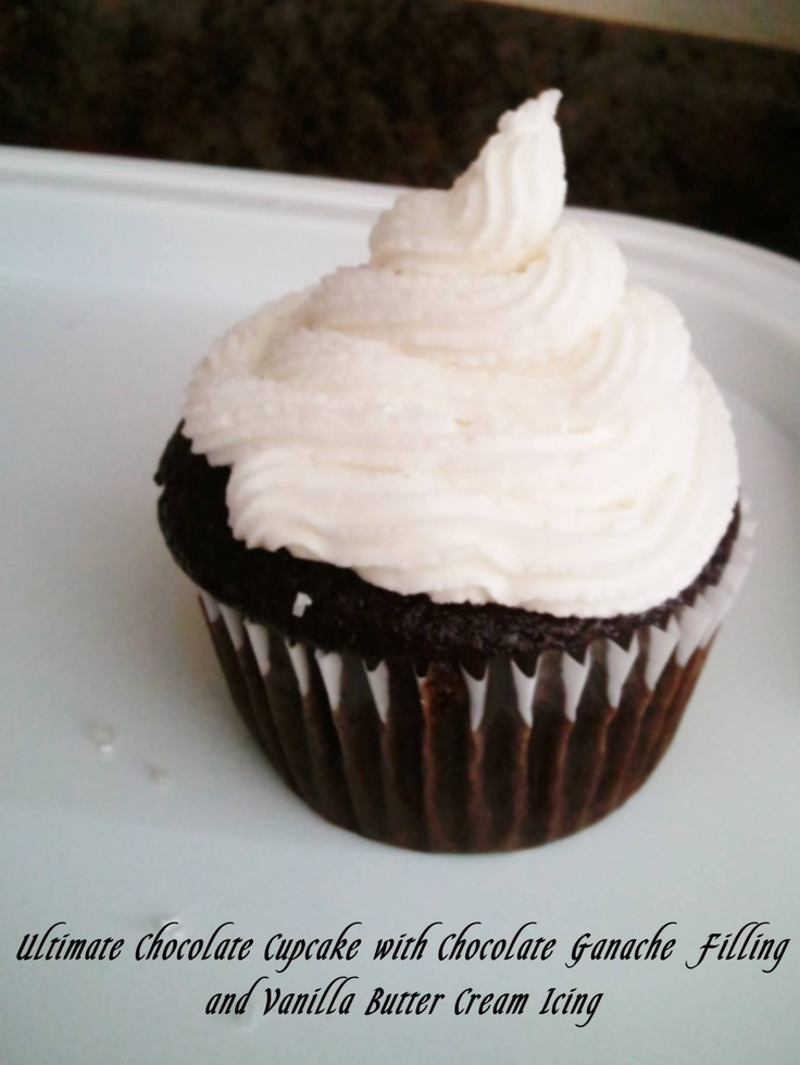 Chocolate cupcake with ganache filling   Favorite Recipes   Pinterest