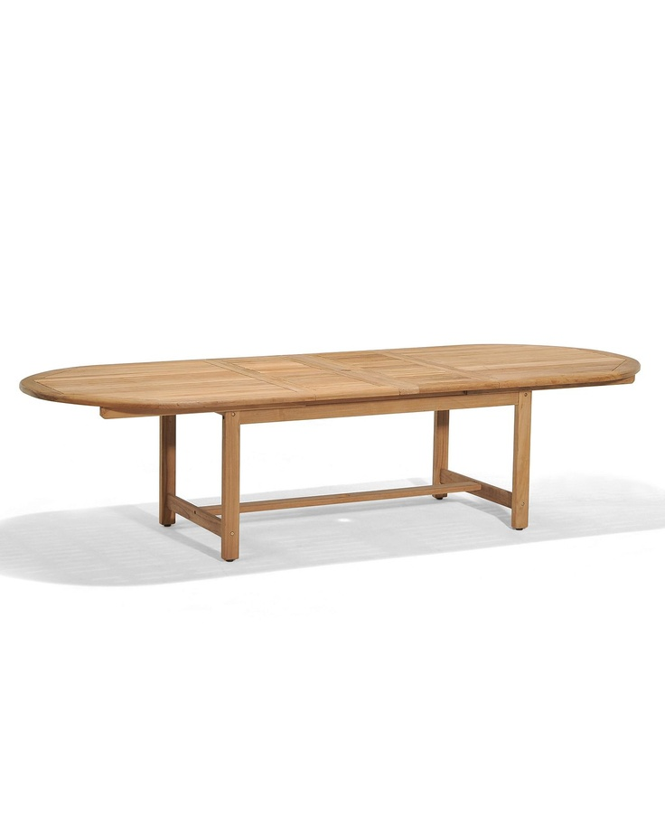 "... Patio Furniture, 118"" x 47"" Oval Outdoor Dining Table - furniture"