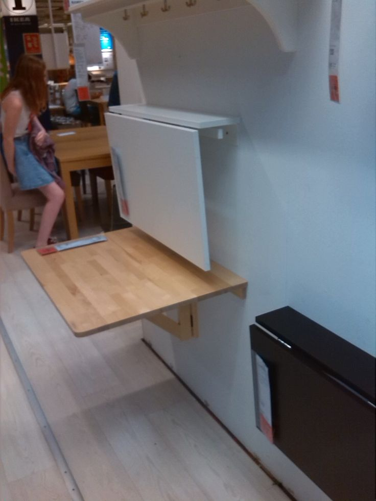Ideas For Refinishing Ikea Furniture ~ Fold down table for kitchen  IKEA  Cottage exteriors  Pinterest