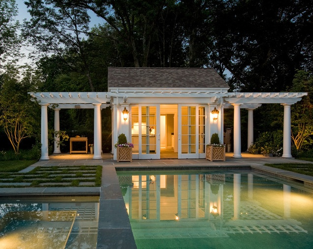 Simple And Cozy Pool House Cabanas Pinterest