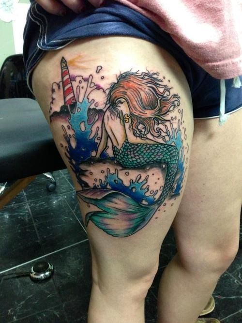 mermaid tattoo tatted up pinterest