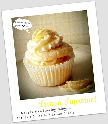 The best Lemon Cupcake!!!  So soft!  There's even a cookie on top! Yum!!!!