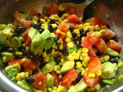 black bean, corn, tomato & avocado salad | Salad Toss | Pinterest