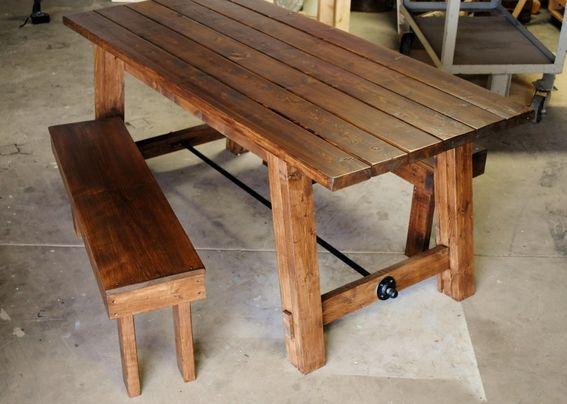 Custom made farmhouse table woodworking pinterest for Farm table woodworking plans