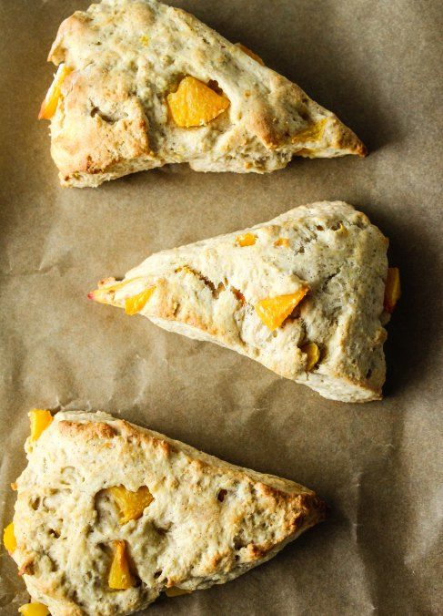 peach cobbler scones via Bakesinslippers | Treats | Pinterest