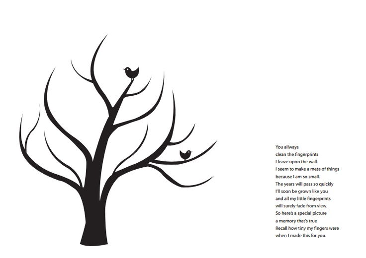 fingerprint tree template free images