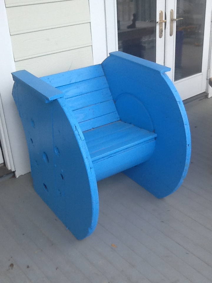 Chair made from cable spool For the Home