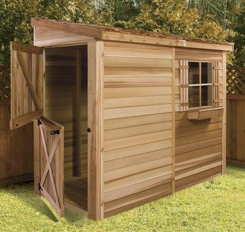 Narrow shed idea green thumb pinterest for Narrow storage shed