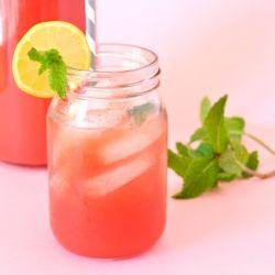 Watermelon Mint Lemonade: - 1.5 C hot water - 1/4 C honey - 4 C ...