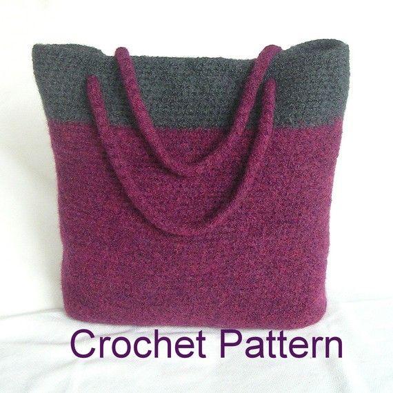 Easy Felted Crochet Bag Pattern : Easy Crochet Bag Pattern Tutorial pdf , Simple Felted Bag ...