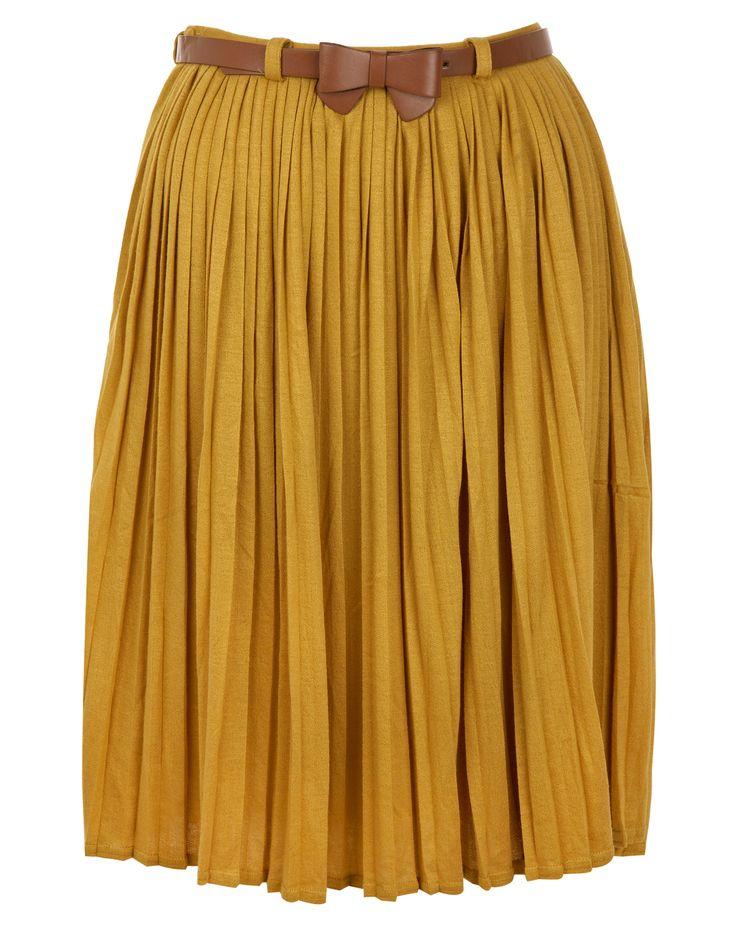pleated jersey skirt yumi