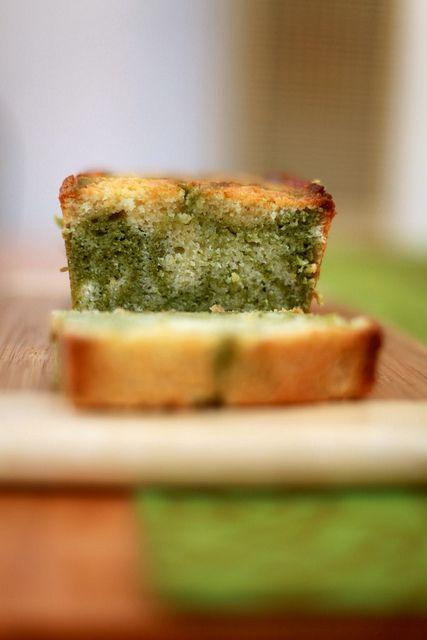 Lemon and Matcha Marble Pound Cake | Gourmet Food | Pinterest