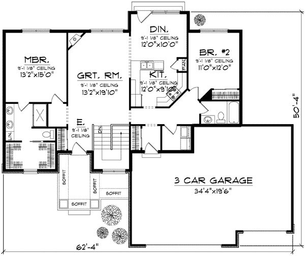 Affordable Open Floor Plan Design: pinterest.com/pin/119838040055317370