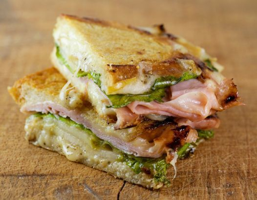 Pressed Ham And Pear Sandwiches Recipe — Dishmaps
