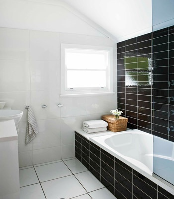 ... Concept Tiles strike a timeless note in the bathroom. Bath from Harvey