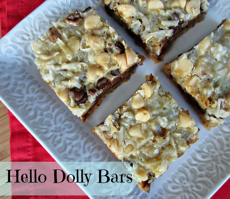 Hello Dolly Bars...a simple delicious dessert for your holiday table ...