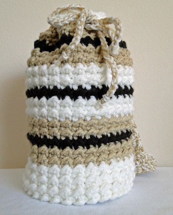 Crochet Bags And Totes : Crochet Bag / Purse / Tote Mocha on Etsy, $42.27 CAD