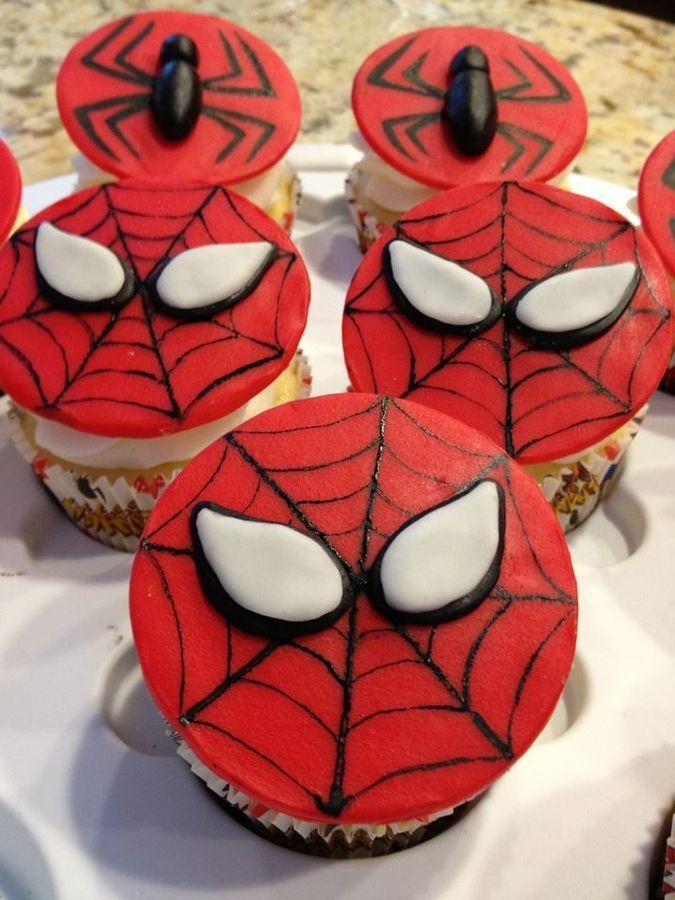 Spiderman cupcakes   Cupcakes! Boys bday Pinterest