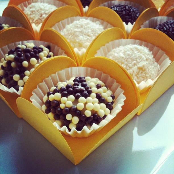 White and coconut brigadeiros. | From our Kitchen | Pinterest