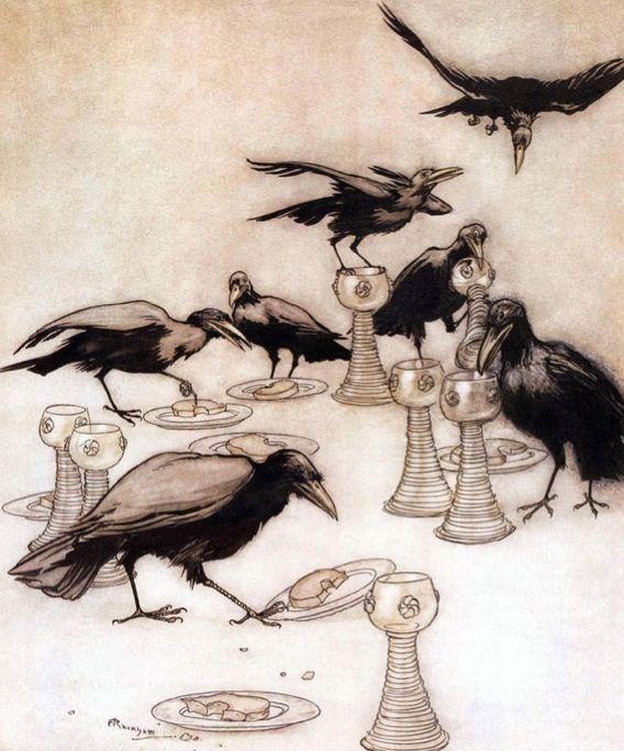 The Seven Ravens by Arthur Rackham