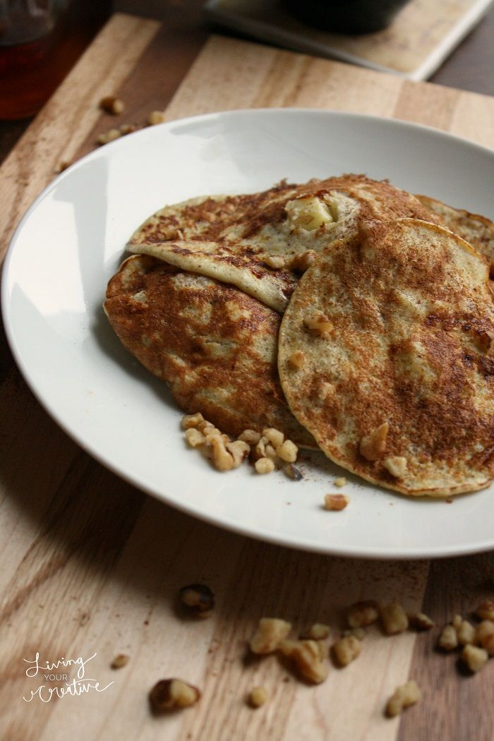 Try these wheat-free banana apple cinnamon walnut #pancakes --- a ...