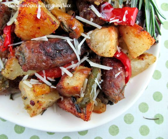 Roasted Sausage, Potatoes and Peppers | Recipe