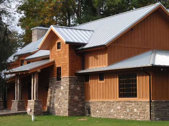 Standing seam roof craftsman style home owd pride Craftsman roofing