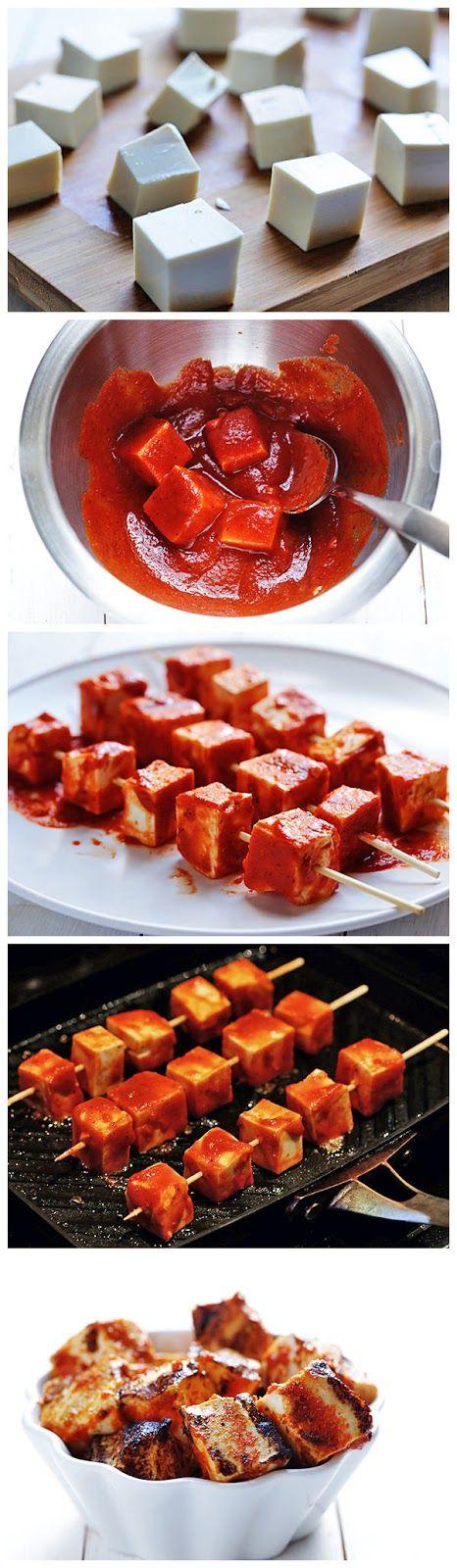 Spicy Sriracha Grilled Tofu | Kaia BRIK Recipes | Pinterest