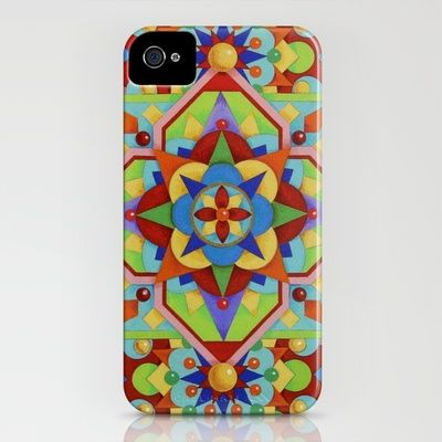 Chartres Mandala iPhone case from Society6