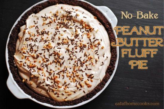 No Bake Peanut Butter Pie | yum-o | Pinterest
