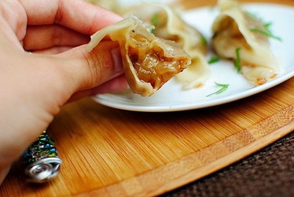 French Onion Soup Potstickers | Iowa Girl Eats