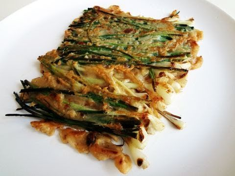 Green onion pancake (Pajeon: 파전) | Food! | Pinterest