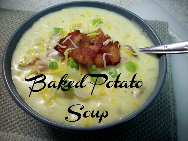 Baked Potato Soup | lunch/dinner | Pinterest
