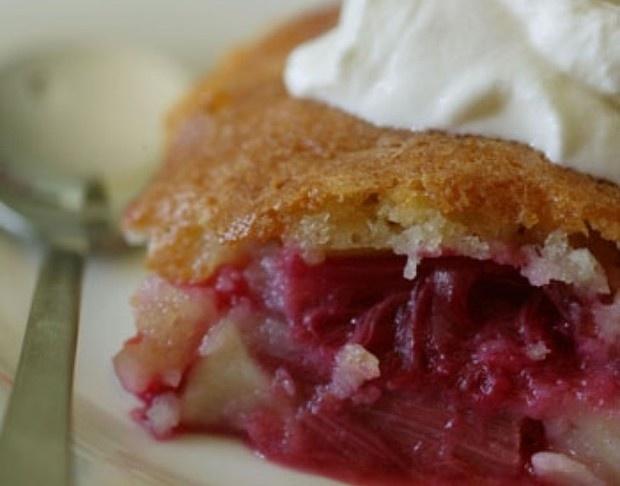 Rhubarb sponge pudding | Desserts of Deliciousness | Pinterest
